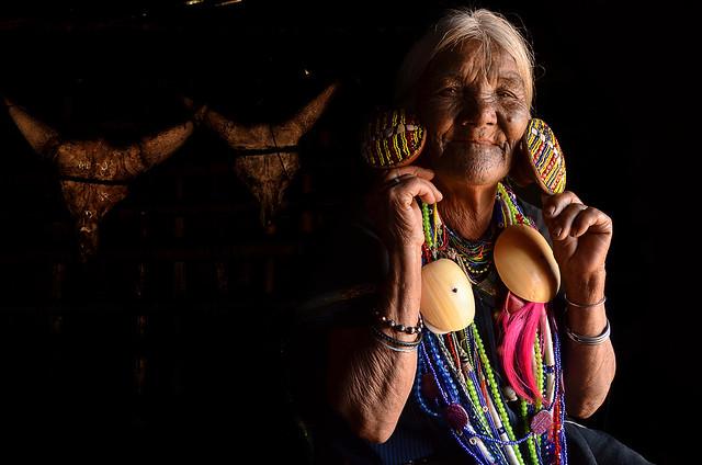 Old mon woman, Mindat, Myanmar