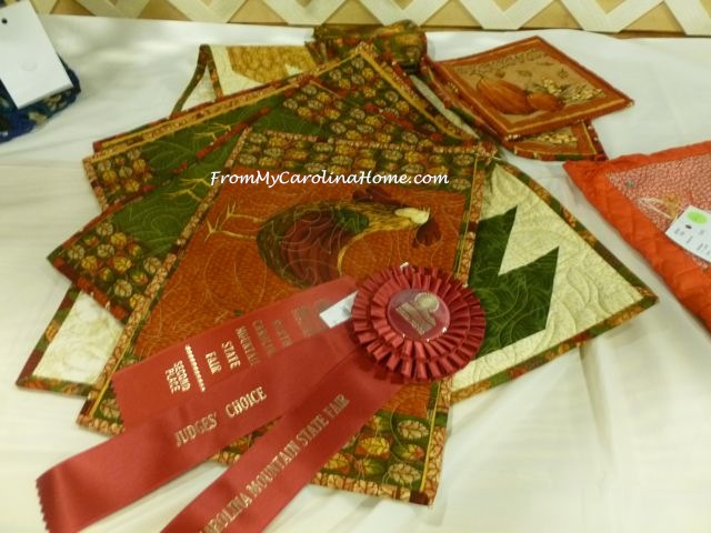 State Fair 2015 - Quilted linens Judges Choice
