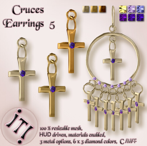 !IT! - Cruces Earrings 5 Image