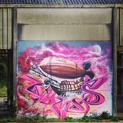 David Duits & Julia #zeppelin - #Belgium #streetart #graffiti #streetartbel #streetart_daily #urbanart #Maldegem