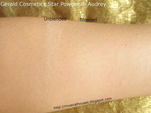 Gerard Cosmetics Star Powder Audrey Swatches