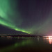 Aurora at the seafront, Reykjavik. Iceland by pixbyjohn
