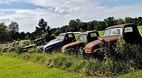 old ford chevrolet truck vintage rust automobile antique decay retro missouri restoration fordtruck chevrolettruck brokenin