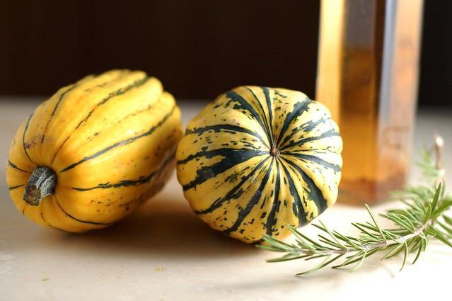 Ingredients for the Cider-Glazed Delicata Squash with Rosemary & Sage by Eve Fox, the Garden of Eating, copyright 2015