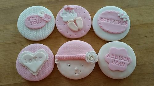 Baby girl godfather cookies