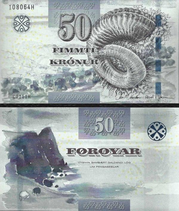 50 faerských korún Faerské Ostrovy 2011(2012)