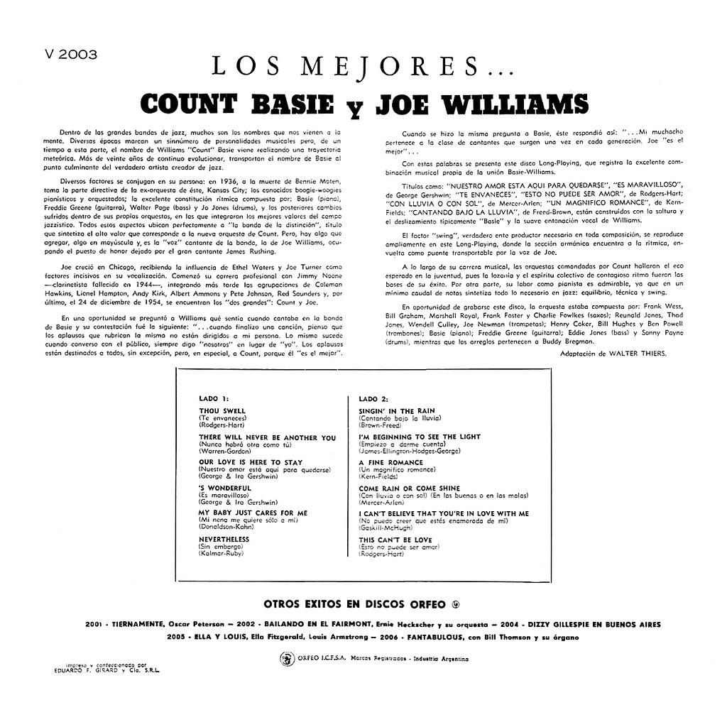 Count Basie, Joe Williams - Los Mejores!!