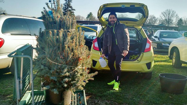 Good guys. We got a pretty little Blue Spruce Christmas tree with the root ball still attached so we can plant it on our land afterwards. Imagine in the years to come how many of our own holiday trees we can have there! ?:christmas_tree