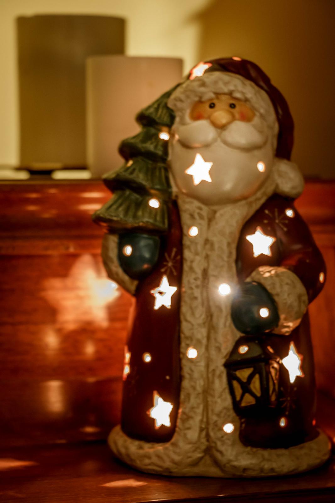 illuminated santa