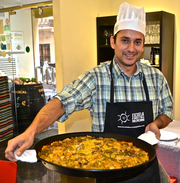 our work of art - paella, valencia