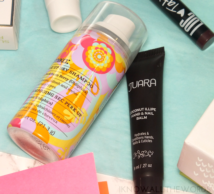 Give the Gift of Birchbox Amika Perk Up Dry Shampoo Juara Coconut Illipe Hand Nail Cream