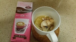Lemon Mug Poudding with So Delicious Ice Cream