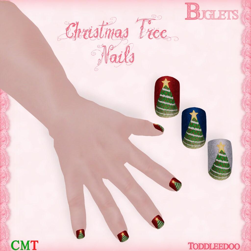 TD Christmas Tree Nails AD - SecondLifeHub.com