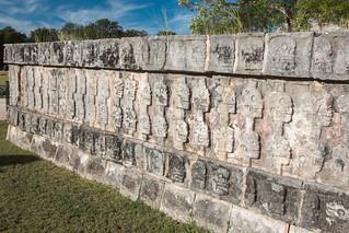 Image of Chichen Itzá near San Felipe Nuevo. 2017 mexico yucatan january winter mayan chichenitza ruins mexique estadosunidosmexicanos platformoftheskulls tzompantli altar sacrifice skulls mexiko 墨西哥