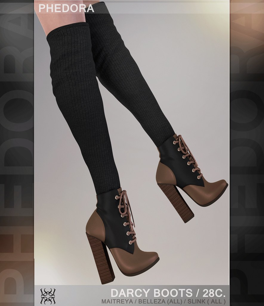 "Phedora exclusively for The Coven Event - ""Darcy"" boots! ♥ - SecondLifeHub.com"