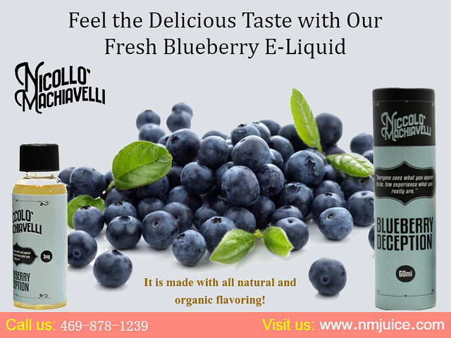 Feel the Delicious Taste With Fresh Blueberry E-Liquid