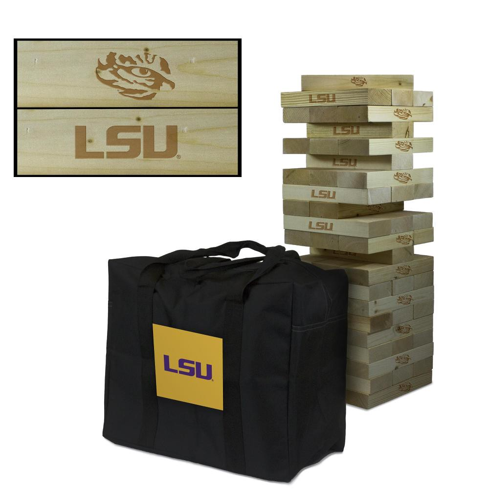 Louisiana State University LSU Tigers wooden tumble tower game