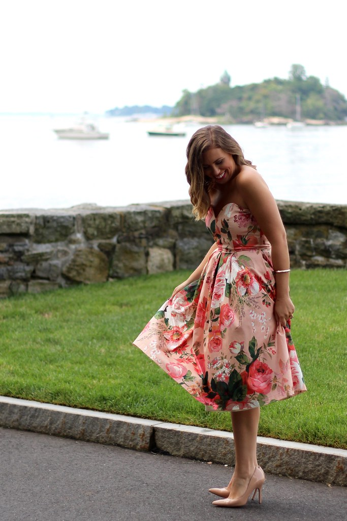 Floral Midi Dress | Wedding Guest Attire