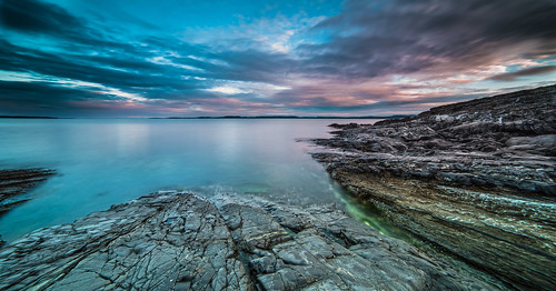 longexposure sea summer sky seascape nature colors norway night clouds nikon horizon wideangle le coastline nightfall costal d800 summernight 14mm samyang