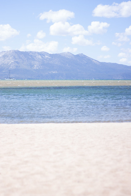 Empty South Tahoe Beach
