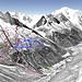 Mapa Chamonix - Argentiere