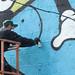 21/09/2015 Graffitmuur in opbouw