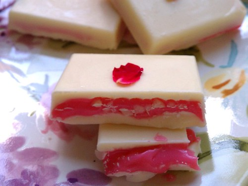 Rosewater Cream in White Chocolate