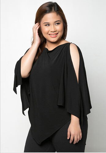 LULU Black Poncho Top