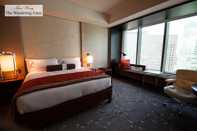 King sized bed at the City View Room