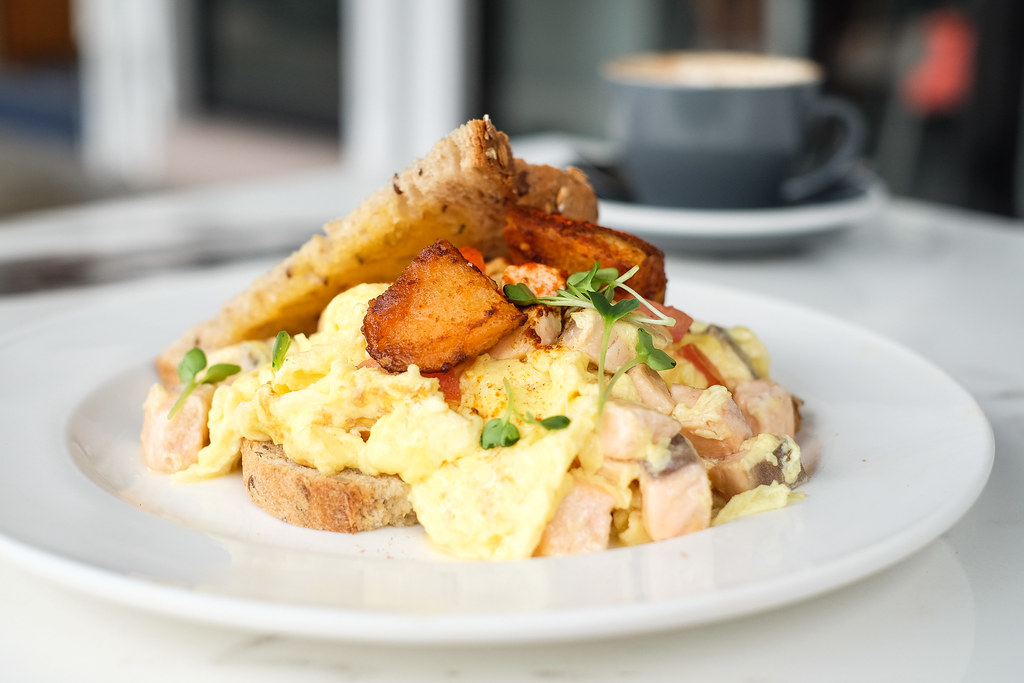 Habitat Coffee's Truffle Salmon Scrambled Egg