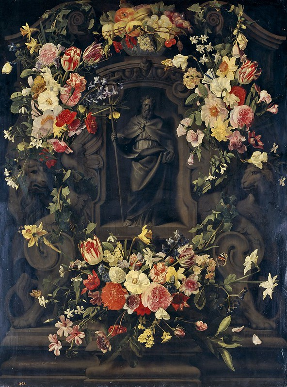 Jan Philip van Thielen - S. Filippo circondato in una ghirlanda di fiori (1651)