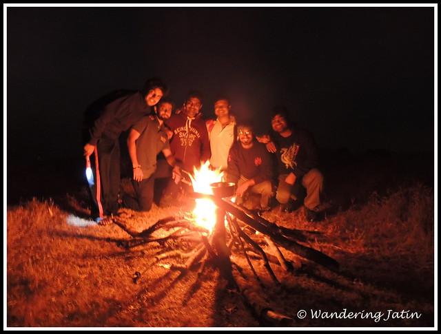 Camp Fire at Rajgad Fort