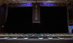 Meaning 2015 - Lunch tables and banner