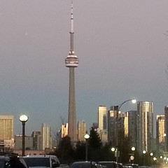 Sometimes she looks beautiful in the evening light. #Toronto