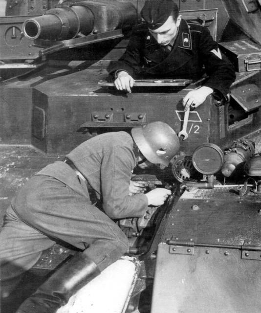 Reparatie Panzer IV