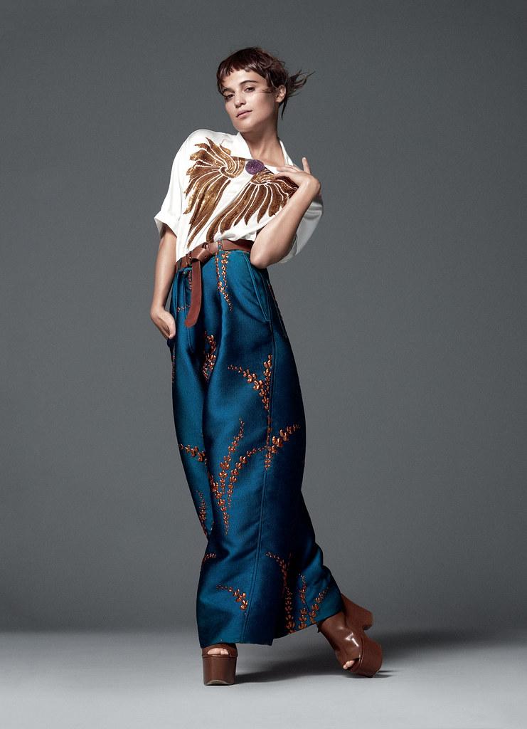 Алисия Викандер — Фотосессия для «Vogue» 2015 – 6