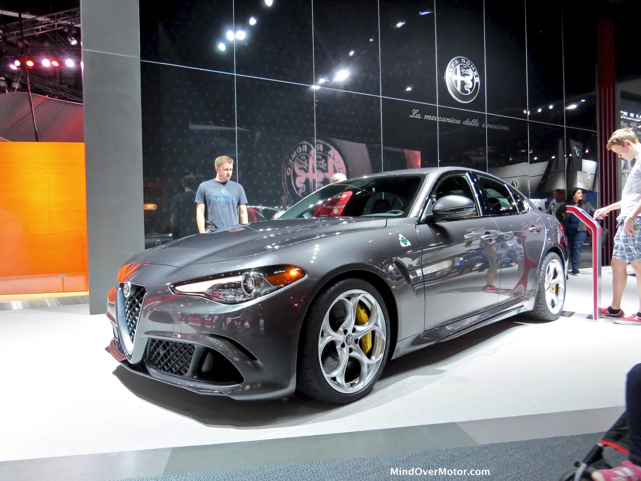 Alfa Romeo Giulia Front Grey