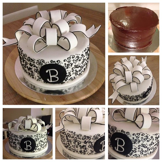 Black and White Chocolate Cake by Isaira Ramirez from Cakes by Isa