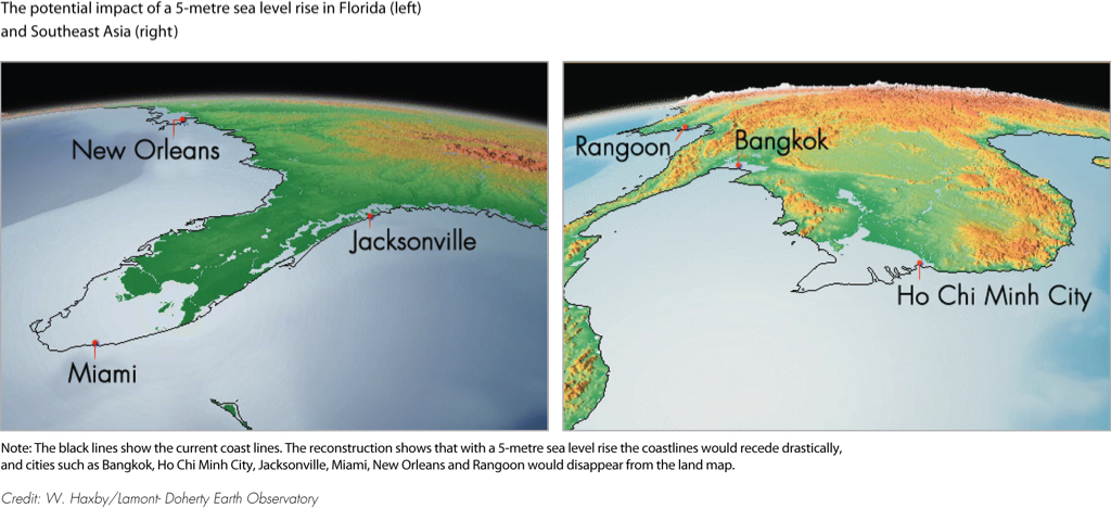 The Potential Impact Of A 5 Metre Sea Level Rise In Florida Left