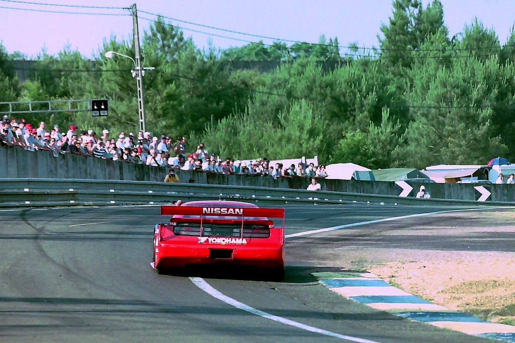 Nissan 300ZX Turbo exits the Esses at the 1994 Le Mans