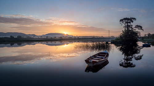 europe reflections countysligo fog sunrise doorlypark ireland sligo dawn mist ie