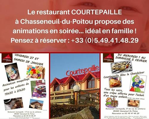 Restaurant COURTEPAILLE Chasseneuil-du-Poitou site du Futuroscope - Animations - FAMILLE - POITIERS-VIENNE-NOUVELLE-AQUITAINE-FRANCE