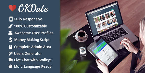 OKDate v2.1 - Complete Dating Platform: Website, iOS/Android Apps, Backend