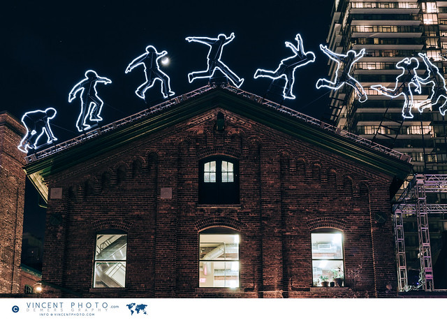 Art installation at the Toronto Light Festival in Distillery District.