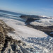 looking past terminus Yahtse Glacier and Icy Bay to the Pacific Ocean by wanderflechten
