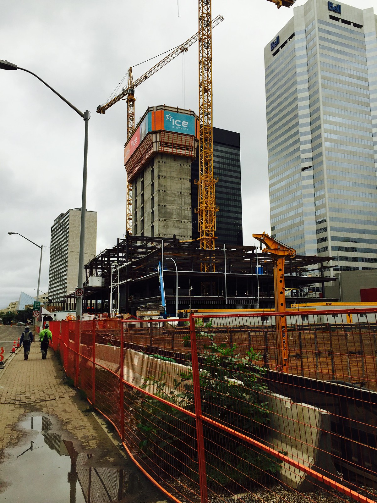 Edmonton: Large Downtown Edmonton Construction Photos By Me