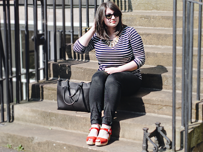 striped breton tee outfit 2