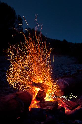 blue sky night fire sparks longexpolsure