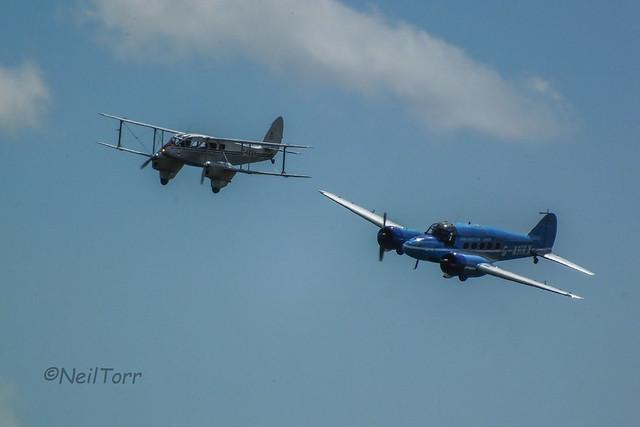 de Havilland Dragon Rapide and Avro Anson