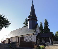 Panorama of the church in Giverville